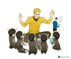 A starfleet captain visit Vulcan school.