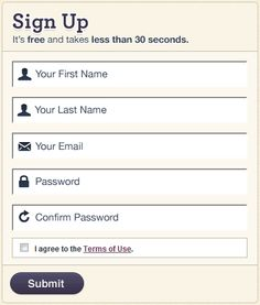 106 best sign up form images on pinterest design elements