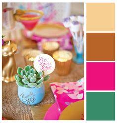 Paleta de cores festiva para festas e casamentos