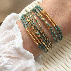 Diy Beaded Bracelets, Bohemian Bracelets, Seed Bead Bracelets, Bracelet Set, Wrap Bracelets, Seed Beads, Wire Jewelry, Boho Jewelry, Gemstone Jewelry