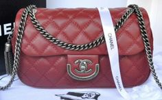 fc7a9feb2f81 CN0021 Chanel 31 Rue Cambon Paris Bag in Original Leather A67824 Jujube Red  Chanel Handbags,
