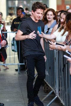Charlie Puth wearing  Mr Completely  Trafford Jeans