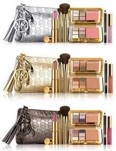 Estee Lauder makeup with Michael Kors clutch!
