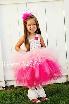 Pink Ombre Tiered Tutu Dress by ModernChicTots on Etsy, $80.00