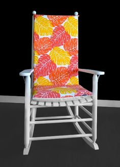 Big Leaves Rocking Chair Pad, Orange Leaf Seat Covers | affordable, designer, custom, handmade, trendy, fashionable, locally made, high quality Chair Cushion Covers, Seat Covers, Norman Reedus, Ikea Kids Room, Rocking Chair Cushions, Kids Room Organization, Big Leaves, Orange Leaf, Military Discounts
