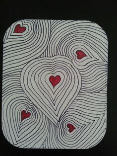 Mexican Art Zentangle Corazon