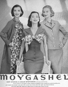 Sunny (R) & Barbara Mullen (C), January Vogue 1956