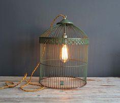 Antique Birdcage Light #DIY