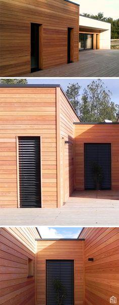 Extension de 50 m² avec du bardage claire-voie en thermopin - maison bardage bois couleur