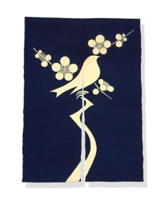 Another noren by Keisuke Serizawa Japanese Fabric, Japanese Prints, Japanese Art, Noren Curtains, Japan Crafts, Japanese Graphic Design, Bird Drawings, How To Dye Fabric, Japanese Culture