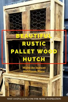 I tried to keep this hutch very rustic looking. Think I nailed it?  #DiningRoom, #Hutch, #PalletCabinet, #RecyclingWoodPallets