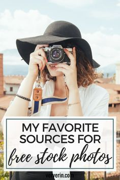 My Favorite Sources for Free Stock Photos | If you're like me and aren't a great photography but still want high quality photos for your blog, you'll love these websites for free stock photos! - Very Erin Blog