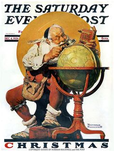 1926 ... Santa and Globe- Norman Rockwell by x-ray delta one, via Flickr