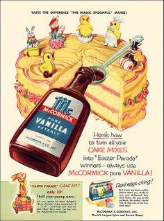 McCormick Vanilla Ad, 1954 | Flickr - Photo Sharing!