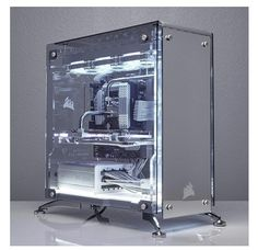 PC Gaming Setup - XD l Funny pictures videos meme gamer games quote Build A Pc, Gaming Pc Build, Gaming Pcs, Gaming Room Setup, Pc Setup, Gaming Computer, Custom Computer Case, Computer Desk Setup, Computer Build