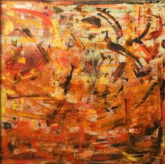 Abstract painting, palette knife, oil on canvas