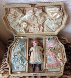 From Private Museum Paris Collection Antique Barefoot One of a Kind French All Bisque Mignonette Doll with Trousseau - Google Search