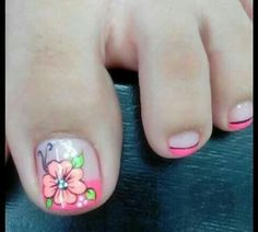 unas Toenail Art Designs, Pedicure Designs, Toe Nail Designs, Nail Polish Designs, French Pedicure, Pedicure Nail Art, Toe Nail Art, Fabulous Nails, Gorgeous Nails