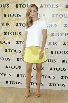 588240c077897 Małgorzata Socha wearing top and skirt from La Mania collection and Tous  jewelry