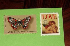 Wings Of LOVE .. Unused Vintage Postage Stamps .. by TreasureFox