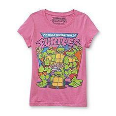 Nickelodeon- -Girl's Graphic T-Shirt - Teenage Mutant Ninja Turtles for Faith 's Birthday :)