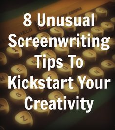 8 Somewhat Unusual Screenwriting Tips That May Help Kickstart and Maintain Your Creativity. Yes us writers can be weird, but in the best ways! This is a great list of ideas that I think I'll try. Article Writing, Writing Advice, Writing Resources, Writing Help, Writing A Book, Fiction Writing, Writing Guide, Writing Classes, Start Writing