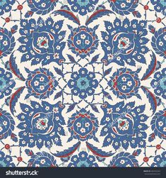 Traditional Arabic ornament seamless for your design. Floral ornamental seamless pattern for ceramic tile, desktop wallpaper, interior decoration, wrapping paper, graphic design and textile. Turkish Tiles, Turkish Art, Islamic Tiles, Islamic Art, Turkish Design, Fabric Rug, Panel Art, Animal Fashion, Arabic Art