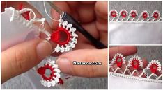 This Pin was discovered by Fat/цветы / Crochet Borders, Crochet Squares, Tunisian Crochet, Crochet Lace, Crochet Designs, Saree Tassels, Lace Flowers, Craft Tutorials, Crochet Edgings