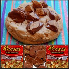 Reece over the top peanut butter cookies Peanut Butter Cups, Skippy Peanut Butter, Healthy Dessert Recipes, Cookie Recipes, Delicious Desserts, Yummy Food, Yummy Yummy, Fun Food, Easy Desserts