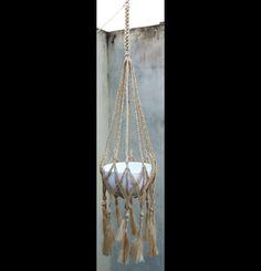 Handcrafted Handmade Braided Natural Jute Hessian Burlap Macrame Plant Hanger Pot Holders Hanging Basket