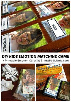 DIY Kids Emotions Game & Free Emotions Download from B-Inspired Mama
