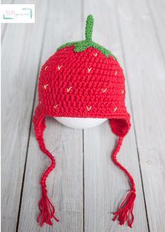Erdbeermütze Obst-Mütze