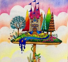 floresta encantada colorido - Pesquisa Google