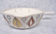 SCENTED SOYA WAX CANDLE IN LARGE VINTAGE 50s EGERSUND OF NORWAY BOWL~MODERNIST~