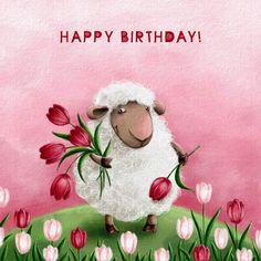 Elina Ellis Illustration: My Cards happy birthday :-) Birthday Pins, Birthday Wishes Quotes, Happy Birthday Messages, Happy Birthday Greetings, Free Birthday, Birthday Eve, Birthday Verses, Birthday Clipart, Happy Birthday Pictures