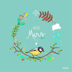 Et bienvenue mars avec la pluie et le printemps (surtout le printemps hein ^^)       Et encore plein de jolis goodies et mêm...