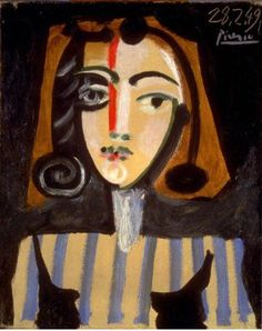 Pablo Picasso (Spanish, 1881-1973). Portrait of Françoise, 1949. The University of Michigan Museum of Art, Michigan. Gift of the Carey Walker Foundation, 1994. http://www.umma.umich.edu