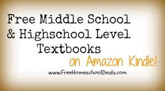 Free Kindle Books: Free Middle School and Highschool Textbooks from CK-12