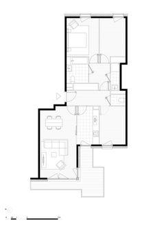 Valenton Housing,Plan a type T4 housing