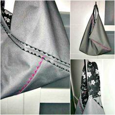 Origami Market Bag aus Segelsack / Origami Market bag made from sailing bag / Upcycling