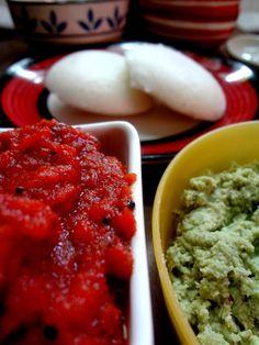 Onion , Tomato chutney for Idlis and dosa