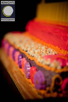 A crazy cool cake shot by 40 Nights Photography.