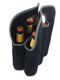 Avito Insulated Neoprene Six-Pack Beer Bottle Carrier - Cooler Tote Sleeve