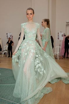 Backstage at Elie Saab  http://ilivebytherulesoffashion.tumblr.com/