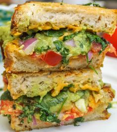 Guacamole Grilled Cheese Sandwich - Food Menu Stock Pictures