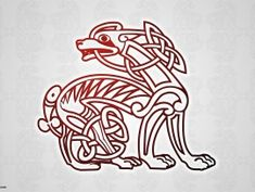 Celtic dog tattoo idea..The Celts believed that dogs are healers of the soul and body. They symbolize loyalty and are considered a symbol of luck!