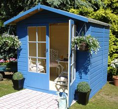 Eventually bought a summer house, its this exact one. Just need to get mine painted like this now!