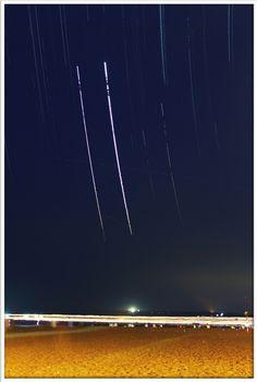 Jupiter - Venus conjuntion trailing, Miramar Beach - Goa