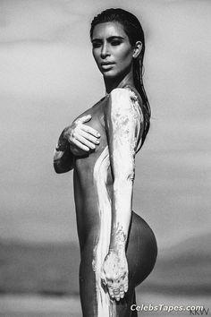 Attractive Nude Pic Kim Kardashian HD