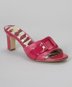Look what I found on #zulily! Dark Pink Nakima Sandal by Anne Klein #zulilyfinds